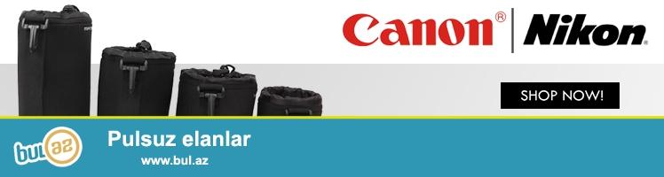Canon Nikon Sony digər obyektivlər üçün çexollar<br /> Çexolların ölçüləri: 8sm 11sm 16sm 21sm...