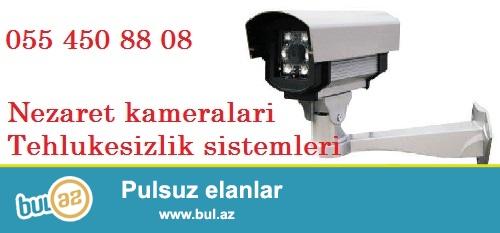 Ev ucun tehlukesizlik kameralari. Tehlukesizlik sistemleri<br /> <br /> Arma Kontrol sirketinde ev ve ya qapali serait ucun nezerde tutulmus musahide kameralari satilir...