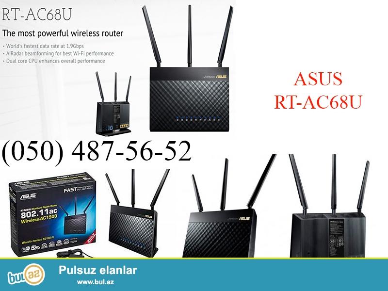 Asus RT-AC68U <br /> Двухдиапазонный маршрутизатор с поддержкой Wi-Fi 802...
