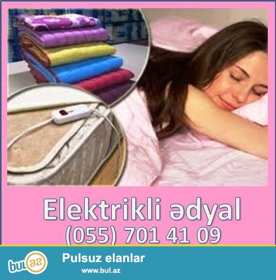 Elektrikli ədyal iki nəfərlik və ya tək yataq üçün nəzərdə tutulub...