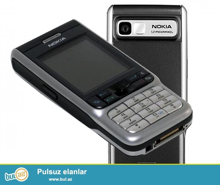 Təcili işlənmiş Nokia 3230 telefonu satılır.Telefonun üstündə adaptor,yaddaş kartı,qulaqcıq və maşında zaryadka yığmaq üçün adaptor verilir...