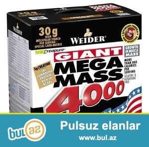 Weider Giant Mega Mass 4000 (7kg)<br /> Butun dadlar...