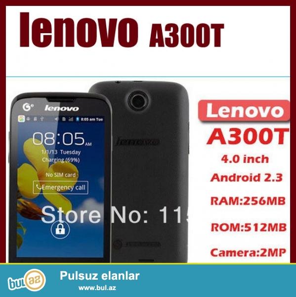 Lenovo A300T  YENI +8GB kart(pulsuz chatdirilma)<br /> <br /> Emeliyyat sistemi: Android OS, v2...