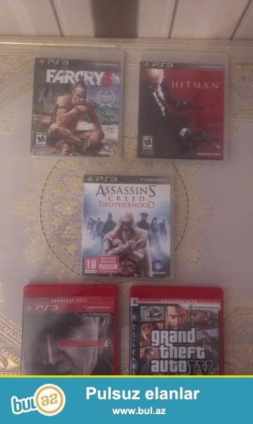 Playstation 3 diskleri satiram, hec bir cizigi yoxdu, tezeden secilmir...