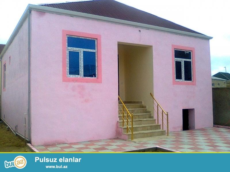 Yola ayxin yerde 2.7 sot heytde tam temirli kupcali ev satilir...