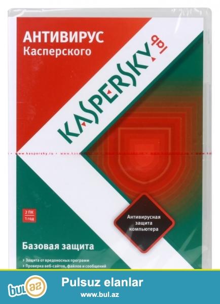 Antivirus kaspersky 2 kompyuter uchun 1 illik....<br /> <br /> Sheher ichi chatdirilma + 2 azn<br /> <br /> Rayonlarada gonderilir...
