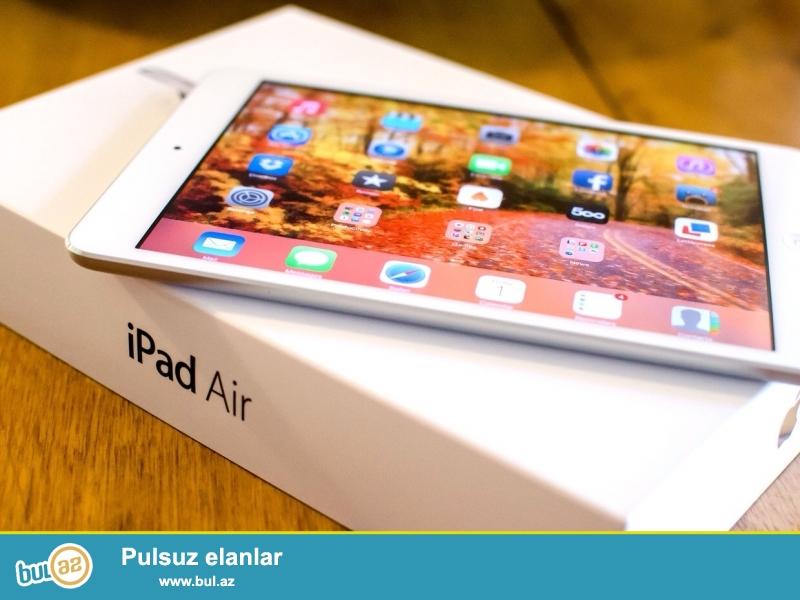 Amerikadan resmi Apple store-dan alinib yenidi qutusu acilmayib <br /> ipad air 32 gb wifi -320 azn <br /> ipad air 64 gb wifi -350 azn<br />
