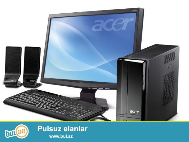 monitor acer led 19 dioqanal universal<br /> windows 7 maksimal 64 <br /> prosesor pentium dual core e550 2...