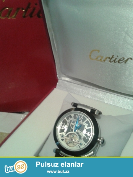 Cartier mexanika kiwi saati karopka pasportla birlidke catdirilma bir gun erzinde en endirimli qiymetle nar nomrede watsapp vardir