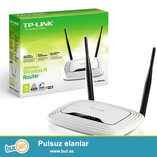 TP-link 841N ..   Wi-Fi Router... Kabel internet uchun (yeni)<br /> <br /> Sheher ichi chatdirilma + 2 azn<br /> <br /> Rayonlarada gonderilir...
