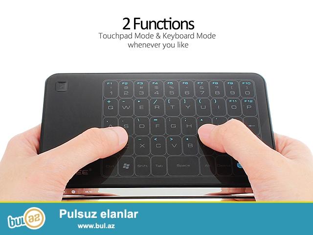 Shunursuz  Klaviatura Mishka touchpad (lofree mt-200) <br /> <br /> Yeni<br /> <br /> 10 metr mesafeden ishleyir...