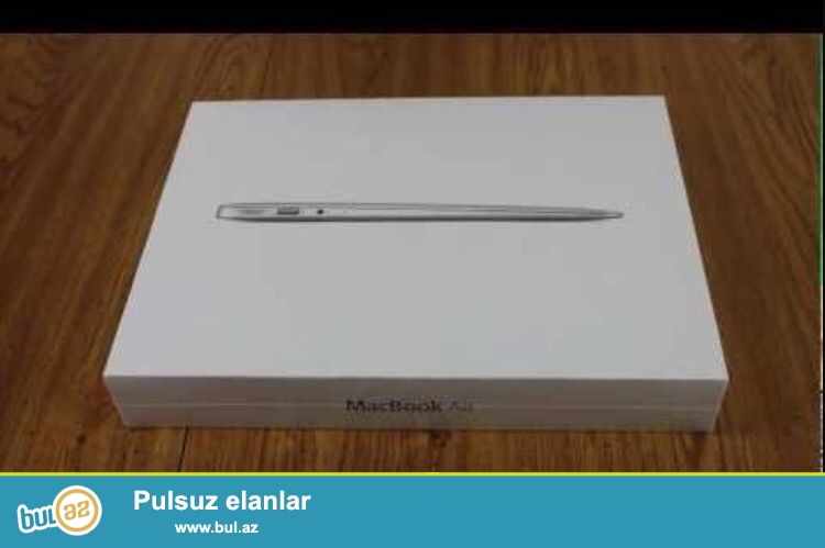 Teze uplavkada agzi acilmayib bagli qutudadir Apple mac Book Air 13 (1...