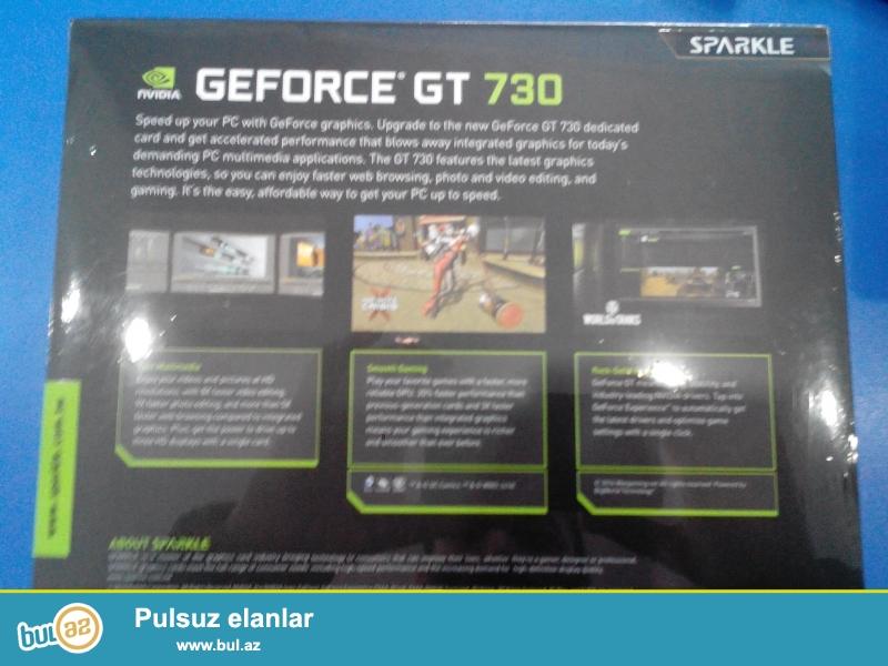 Komputer uchun Video kart Geforce GT 730 2gb<br /> <br /> yenidir !!!<br /> <br /> Sheher ichi chatdirilma + 2 azn<br /> <br /> Rayonlarada gonderilir...