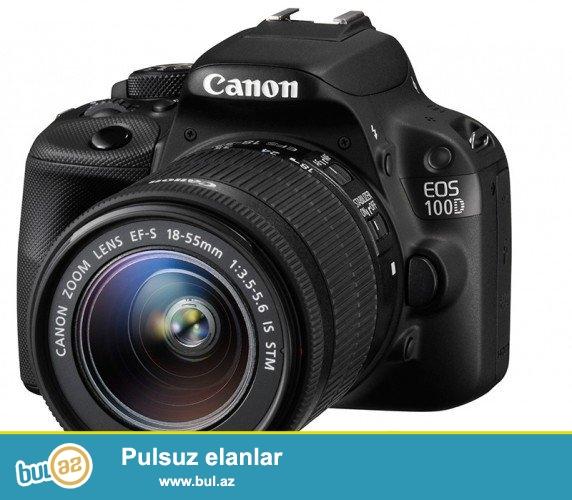 Canon EOS-100D 18-55 mm SLR-Digitalkamera (18 Megapixel, 7,6 cm ( 3 Zoll ) YEPYENİDİR...