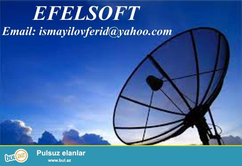 Peyk antena_Krosna_Rəqəmsal TV<br /> 1. Bütün növ peyk (krosna aparatlarının) qəbulediciləri (HD və SD), çanaq antenaları və bütün növ avadanlıqlarının satışı və evlərdə (ofıslərdə və ya binalarda) quraşdırılması;<br /> 2...