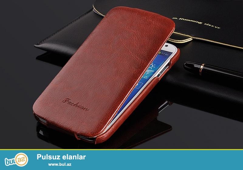 Iphone 6 и Samsung Galaxy S5 <br /> Материал: Кожа ПУ<br /> Цвета: черный, белый, розовый, красный, коричневый<br /> Цена: 14 AZN