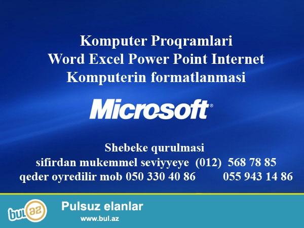 Təcrübəli müəllimə kompüter proqramları, Word ...