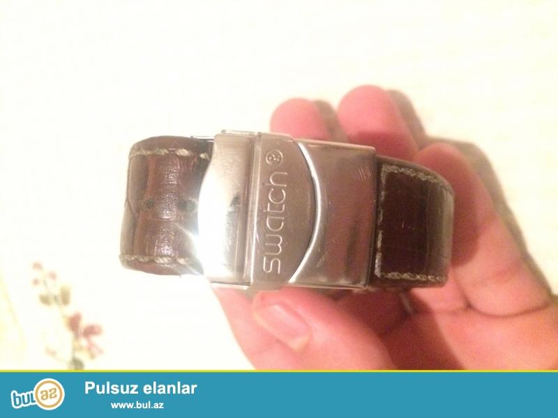 Swatch saat satilir orginaldi ozum 130 manata almisam Tecili satilir 65 manat.Maraqlanmaq isteyenler elaqe saxlaya bilerler