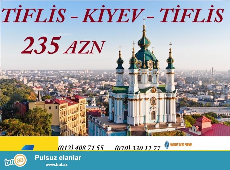 Aprel ayında Tiflisdən - Kiyevə uçmaq və geri dönmək üçün aviabiletin qiyməti cəmi 235 AZN...