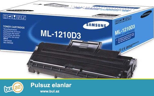 Samsung ML-1010/1020M/1210/1220M/1250/1430<br /> <br /> Tam yeni kartric...