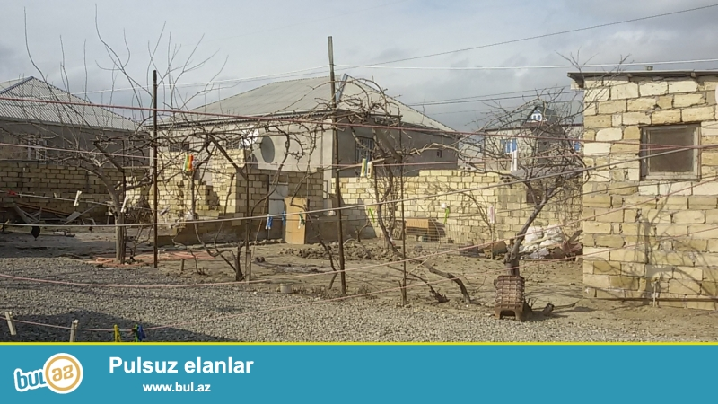 Sulu tepede 3.5 sot torpaq sahesi. Icinde 11.6m×10m olan betonu tokulmus kursulu ev var...