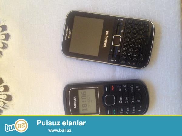 1) nokia 1202 sade telefon wekildeki ela vezyetdedi adaptoru var 25 azn                                                        2) samsung duos c3222 telefon yaxwi vezyetdedi ela iwleyir batareka lazimdi adaptoru var qiymeti 20 AZN                                                                              ciddi olan zeng elesin qiymetler sondu