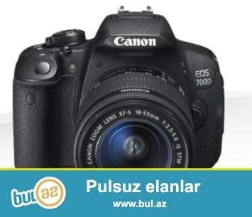 Canon 700 d profesional fotokamera satıram ela vezyetdedir tezedir bir ay olar alınıb kitablar karobka diski kemer blendası adatoru üstündedir...