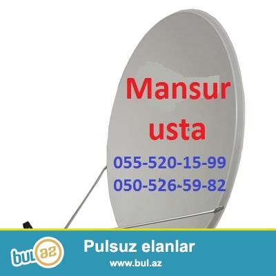 Sputnik Krosna Antenalarin Satisi ve qurulmasi.  Mansur Usta 050-526-59-82   055-520-15-99