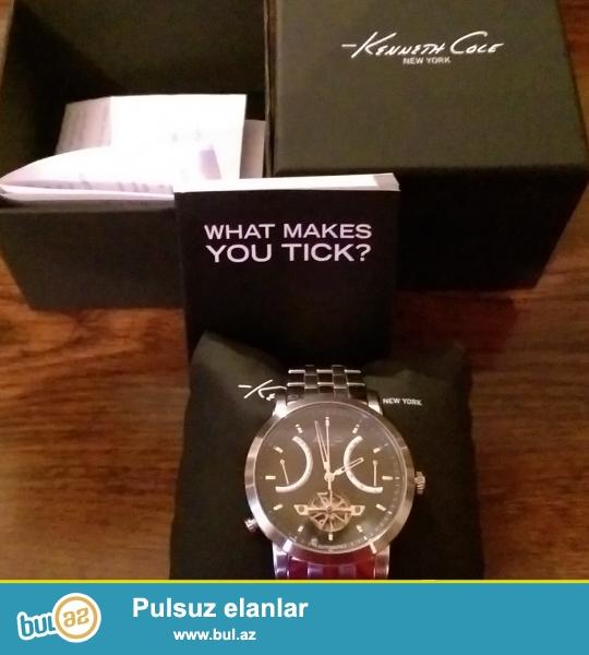 Продаю часы мужские KENNETH COLE NY с автоподзаводом запасом хода на 48 часов, можно заводить также через заводную головку...