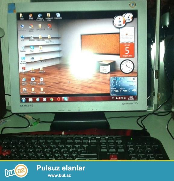 Kompiyuter satılır,Notbook aldığım üçün satıram . 055 664 00 88<br /> 15 dyum Samsung LSD Monitor<br /> Əməliyyat sistemi : Windovs 7 Maksimalnaya<br /> Prosesor: Nexsus –Intel (R) Core (TM) 2 Duo CPU @ 2...