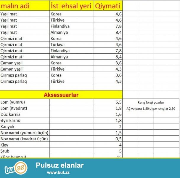 Dam örtüklərinin topdan və pərakəndə satışı<br /> Tikinti xidmətləri