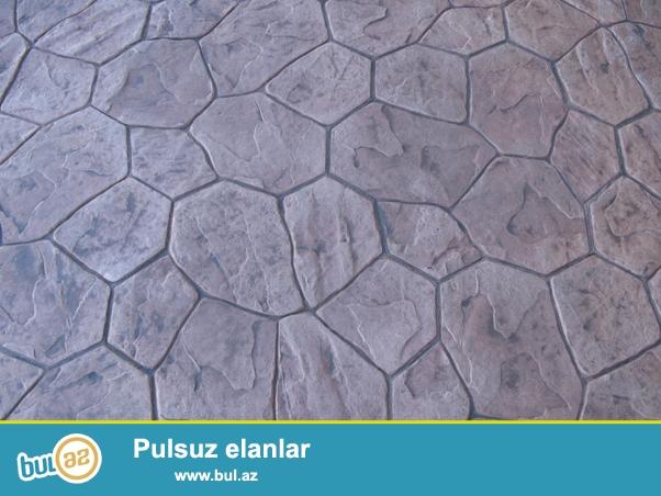Dekorativ basqı beton sistemləri iç və çöl məkanlar üçün təqdim olunan zəmin işləridir...