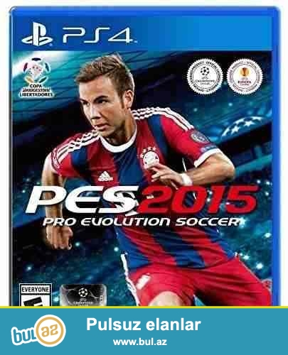 Playstation 4 üçün PES 2015 oyunu satılır. Az oynanılıb...
