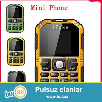 YENİ RENGLİ EKRAN İNTERNETLİ<br /> Yeni 2015 Şok və Sukeçirməyən Ultra nazik iPake Q8 Mini Mobil Telefon<br /> Specification:<br /> Brand iPake<br /> Görünüş növü Straight<br /> Ölçü 9...