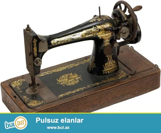 Singer tikis masini satilir (SINGER)<br /> Ili 1880-1890<br /> Aparat Hal-hazirda istifade olunur...