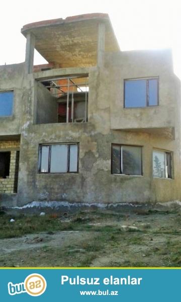 Срочно! По дороге Бильгя-Нардаран , с лево от дороги ,продается  на 25-и сотках, 2-х этажный+ мансард  8-ми комнатный частный дом нового строения, общая площадь дома 550 квадрат под маяк с панорамой на море...