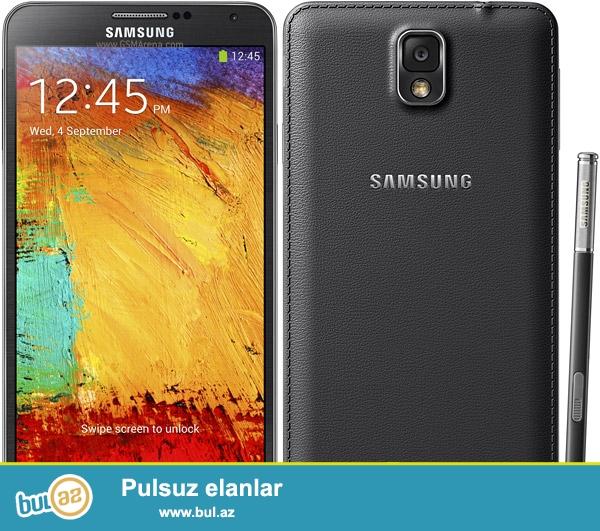 Samsung Note 3 satılır.<br /> Qara rəngdir.<br /> 32 Gb,3Gb ram<br /> 5,7 düym ekran<br /> Barter olar...