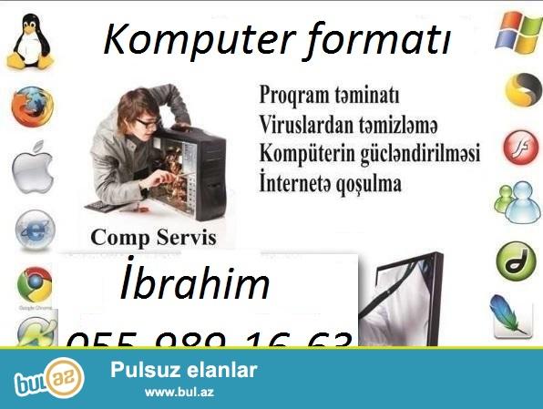 komputerlərin format edilməsi, microsoft word,excel ofislərinin yazılması, komputerdə c diski və d diskinin antivirusdan təmizlənməsi...