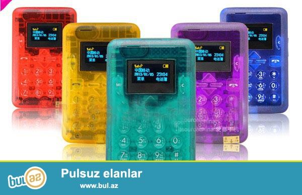 YENI<br /> QEYDIYYATLI<br /> <br /> Funksialar:FM Radio,MP3 oynadan,Bluetooth,Yaddaş kart yeri,Mesaj<br /> Durmadan danışıq vaxtı:4 saat<br /> Ekran ölçüsü:1...