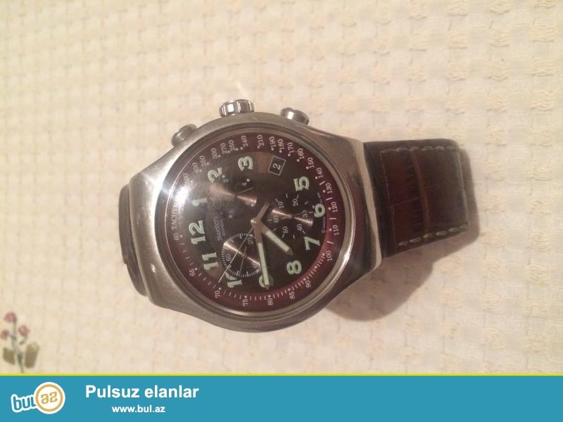 Swatch saat satilir orginaldi ozum 130 manata almisam Tecili satilir 55 manat...