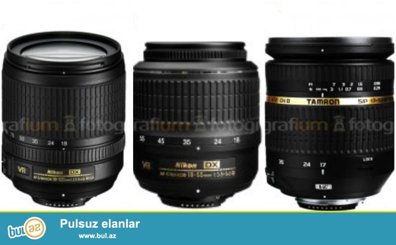 SATILIR: Nikon D3200 Probeg 1500den azdi<br /> Nikon AF-S DX 18-55mm f/3.5-5.6G VR Lens+UV filtir-35 sekil cekilib<br /> Nikon 18-105mm f/3...