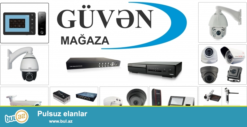 """""""Guven"""" Mağaza hər cür elektronik təhlükəsizlik avadanlıq və mallarının topdan və pərakəndə satışı, quraşdırılması, sazlanmasını təmin edir."""