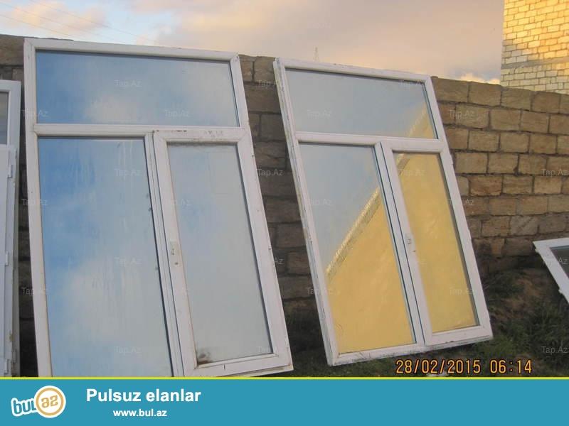 ustden cixma plastik pencereler eni ve hund 140sm,,(80azn)eni 190sm hund 170sm...