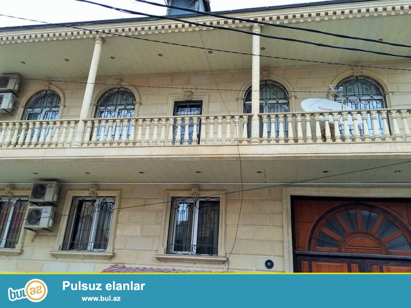 <br /> Очень срочно сдаётся в аренду на долгий срок 2-х этажный , 9 комнатный особняк расположенный вблизи  проспекта Теймура Алиева ...