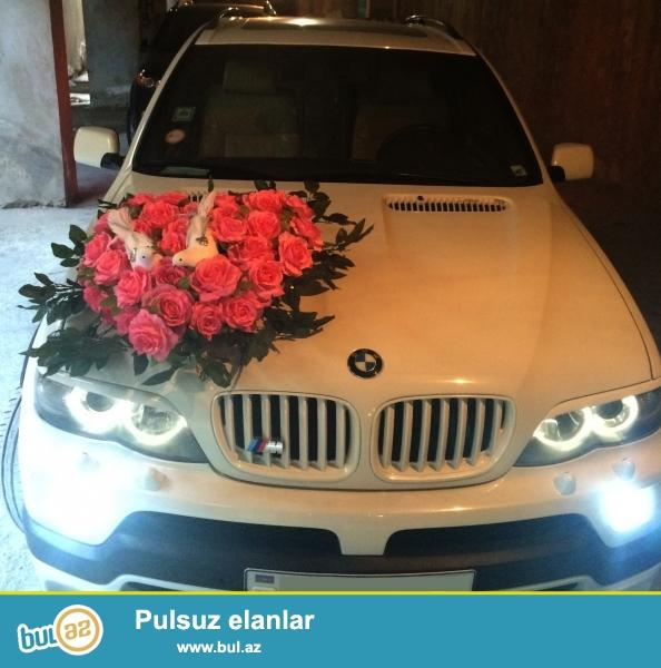 BMW X5 4.8is gelin masini olaraq xidmetinizde