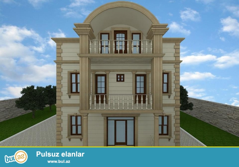 Sebail rayonu Badamdar qesebesi  3cu massivde 2mertebeli villa  temirli, 3sotun icindedir, toraqin ve evin senedi cixarisdir