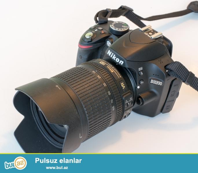 SATILIR: Nikon D3200 Probeg 6510<br /> Nikon 18-105mm f/3...