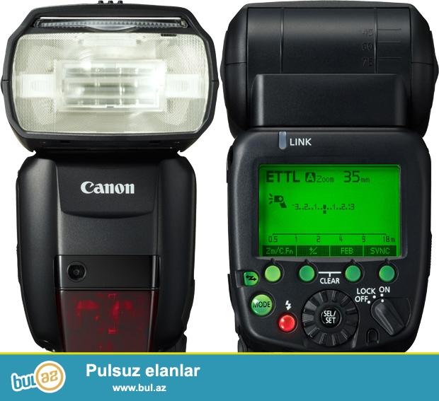 В наличии<br /> Canon Speedlite 600 EX RT<br /> Цена : 480 AZN <br /> Made in Japan<br /> Контактный номер (055) 707 60 61<br />