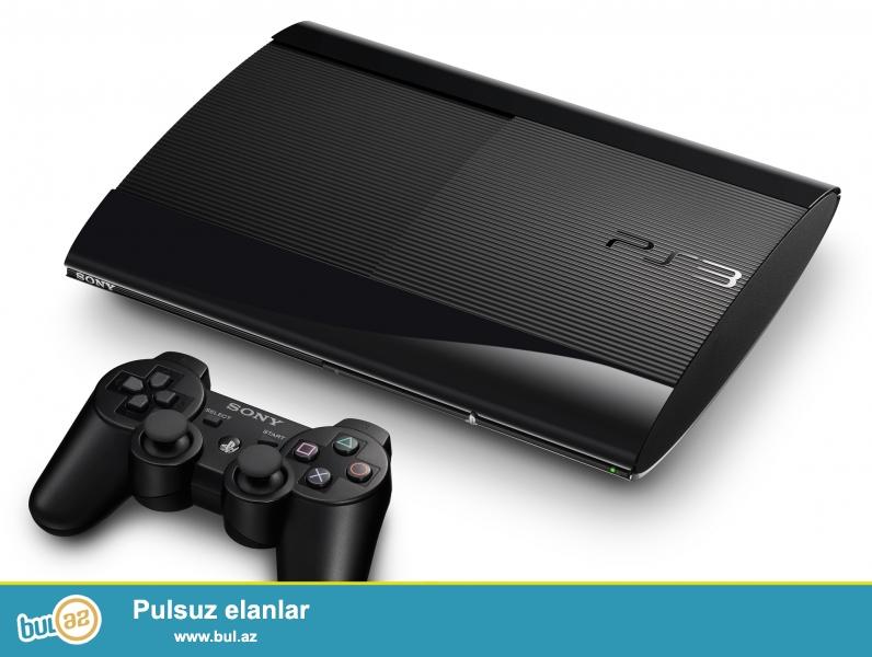 Sony Playstation 3 super slim 500gb...2 costikle 3orjinal fiskle birge verilir...