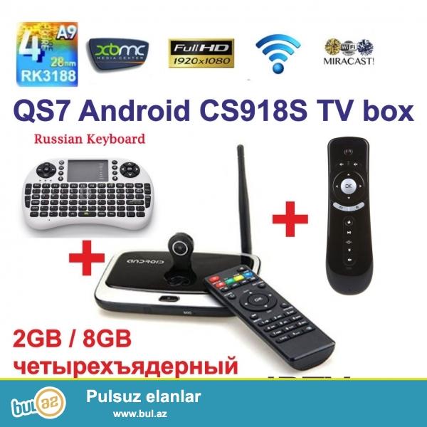 Особенности: <br /> Android 4.4, RK3188T четырехъядерный процессор, Совместимость с последними смарт-ТВ...